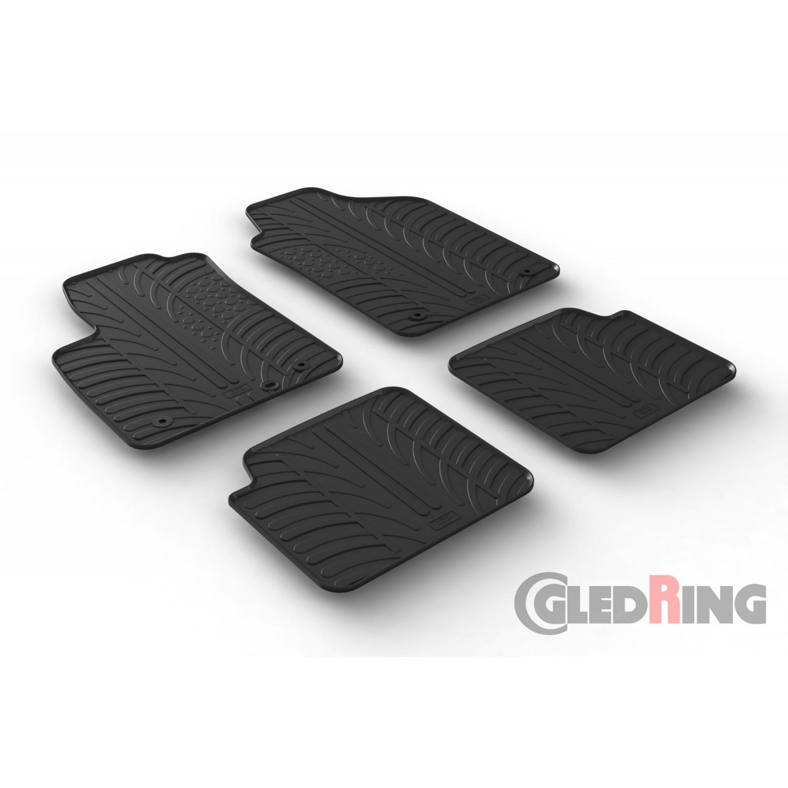 tapis en caoutchouc pour fiat 500. Black Bedroom Furniture Sets. Home Design Ideas