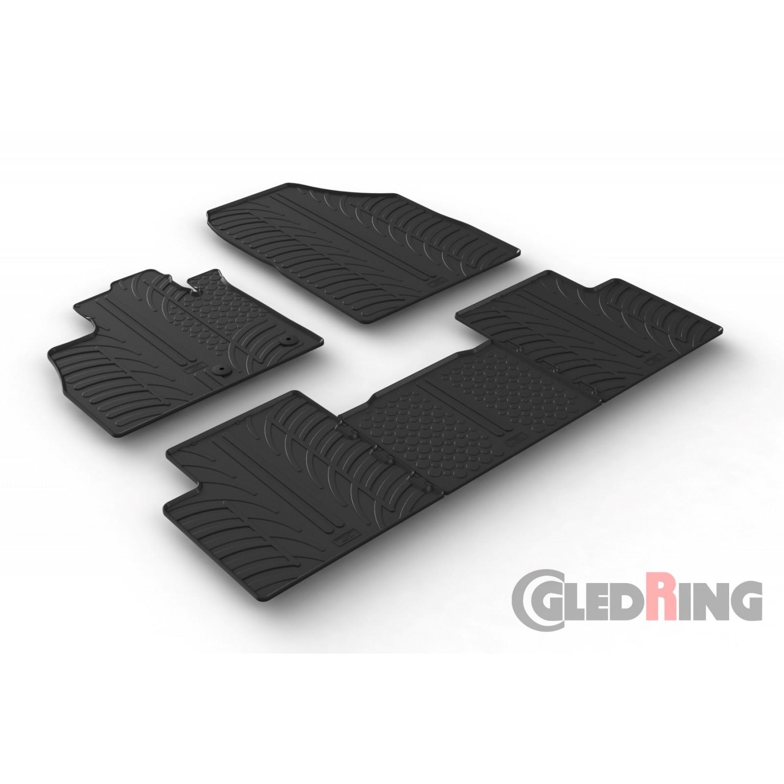 tapis en caoutchouc pour renault scenic. Black Bedroom Furniture Sets. Home Design Ideas