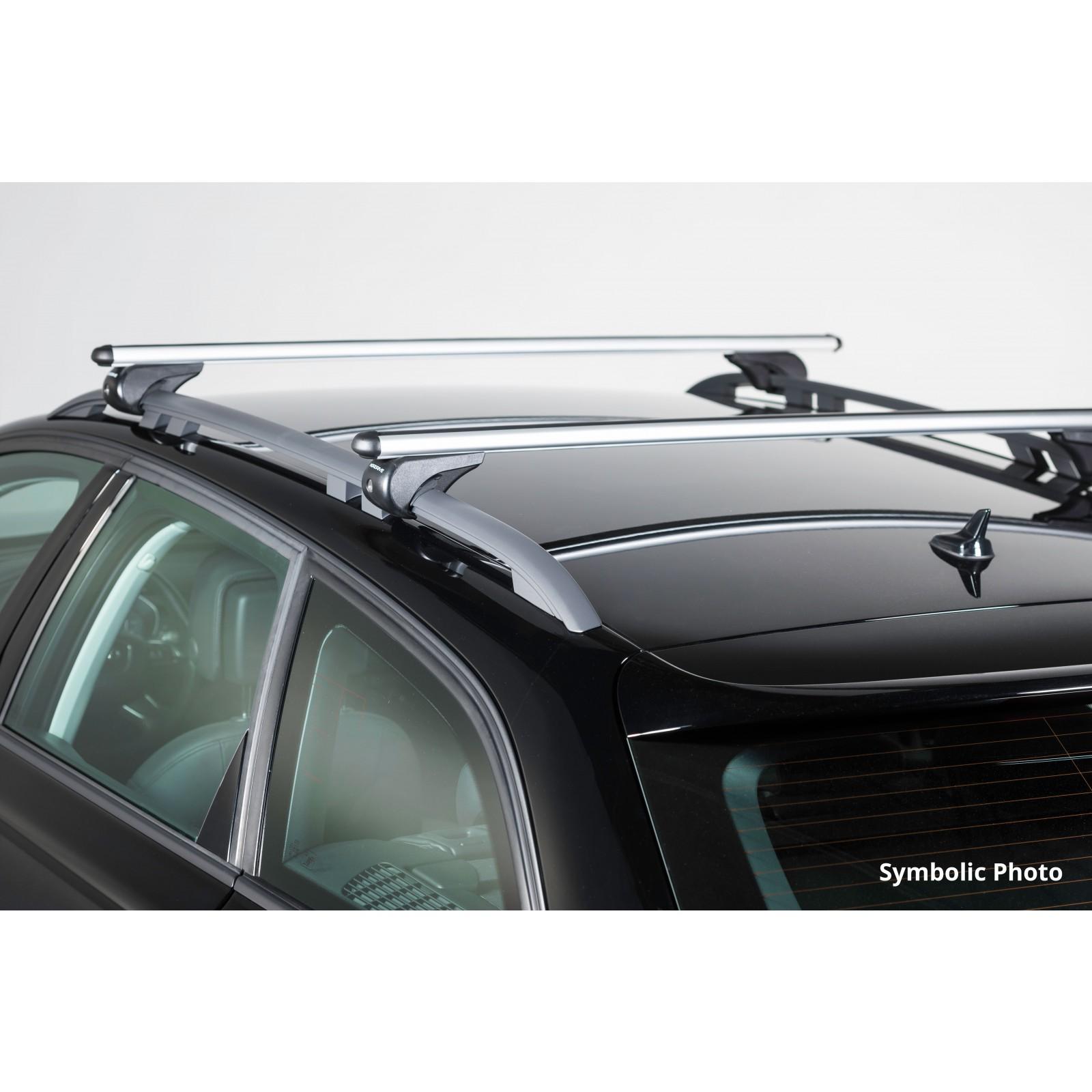 barres de toit en aluminium pour volkswagen tiguan 120cm. Black Bedroom Furniture Sets. Home Design Ideas