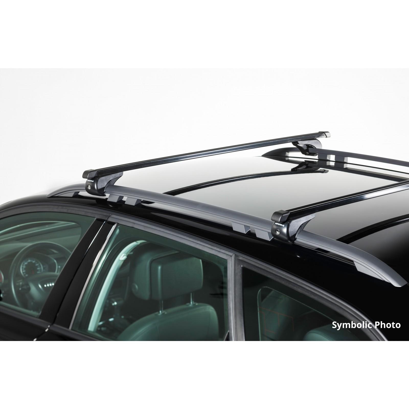 barres de toit en acier pour mitsubishi pajero pinin 5p 120cm. Black Bedroom Furniture Sets. Home Design Ideas