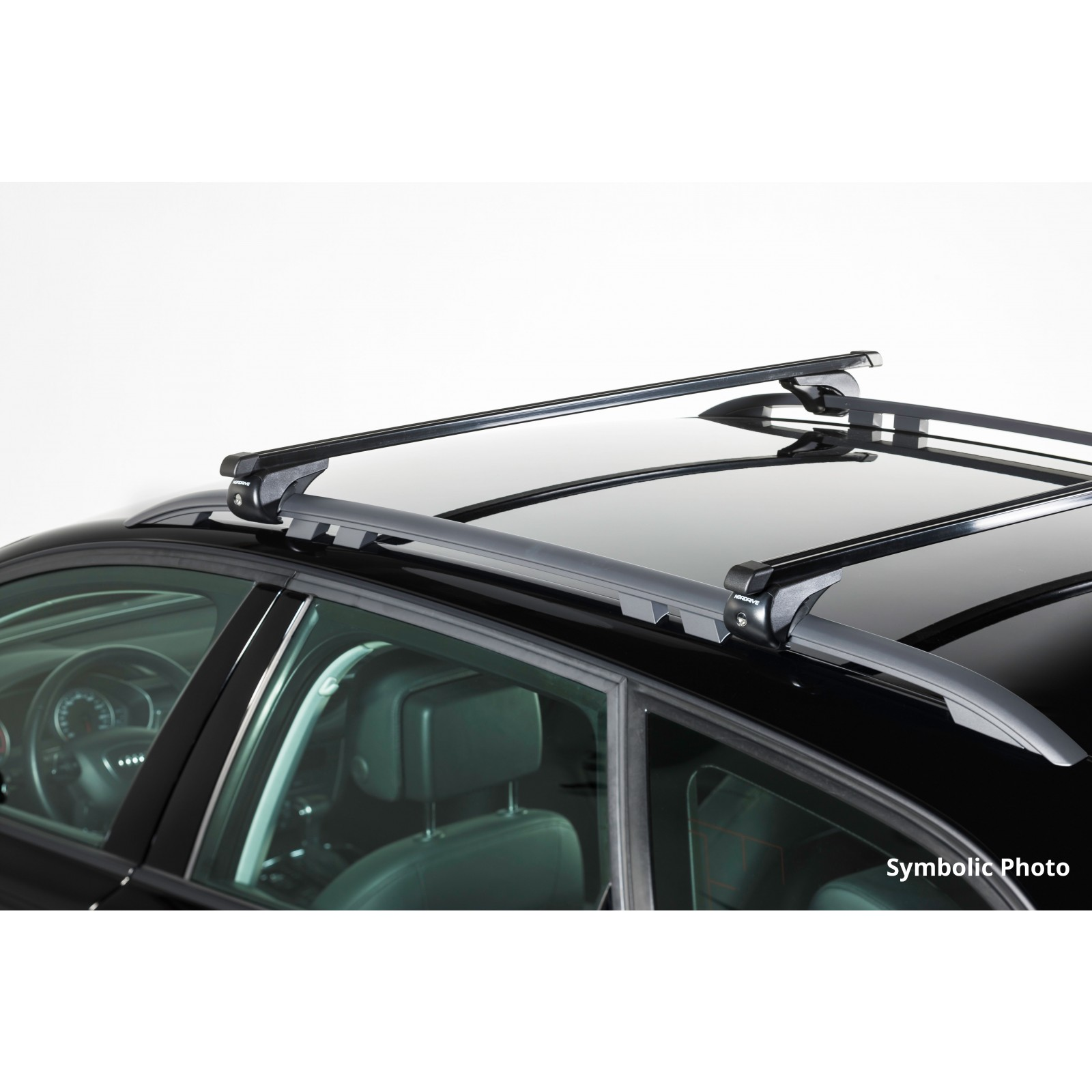 barres de toit en acier pour volkswagen tiguan 120cm. Black Bedroom Furniture Sets. Home Design Ideas