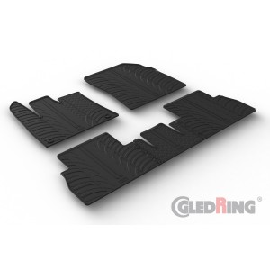 Tapis en caoutchouc pour Citroen Berlingo (siege passager non rabattable/oval fixing)